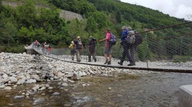 pont suspendu en ardèche. Randonnée robion