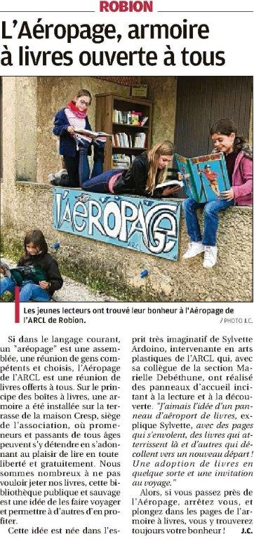 La provence, Parution-du-17-novembre-2018 Aeropage robion arcl