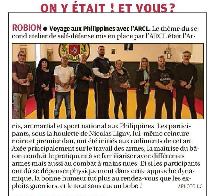 Parution-du-08-novembre-2018 self defense arcl robion