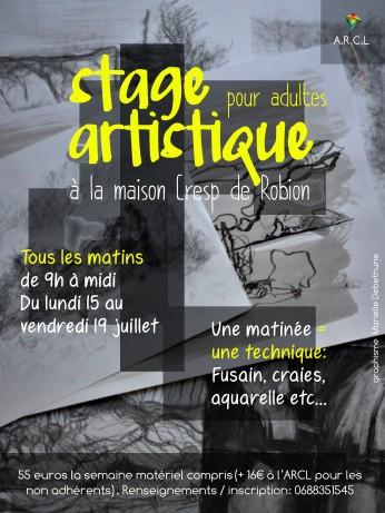 stage artistique pour adulte